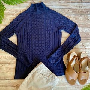 Brooks Brothers 100% Silk Cable Knit Sweater